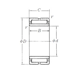 180 mm x 250 mm x 69 mm  NSK NA4936 needle roller bearings