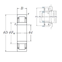 35 mm x 80 mm x 31 mm  NSK NU2307 ET cylindrical roller bearings