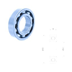 28 mm x 68 mm x 18 mm  Fersa 63/28 deep groove ball bearings
