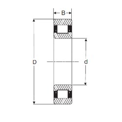 30 mm x 72 mm x 27 mm  SIGMA N 2306 cylindrical roller bearings