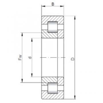 30 mm x 72 mm x 27 mm  ISO NUP2306 cylindrical roller bearings