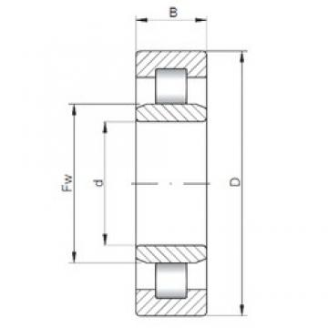 110 mm x 240 mm x 80 mm  ISO NU2322 cylindrical roller bearings