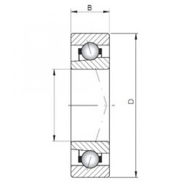 ISO 709 C angular contact ball bearings