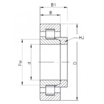 190 mm x 340 mm x 55 mm  ISO NH238 cylindrical roller bearings