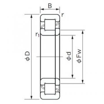 30 mm x 72 mm x 27 mm  NACHI NUP 2306 E cylindrical roller bearings