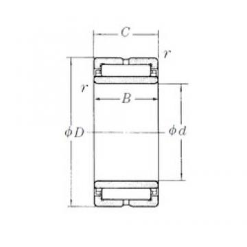 100 mm x 140 mm x 40 mm  NSK NA4920 needle roller bearings