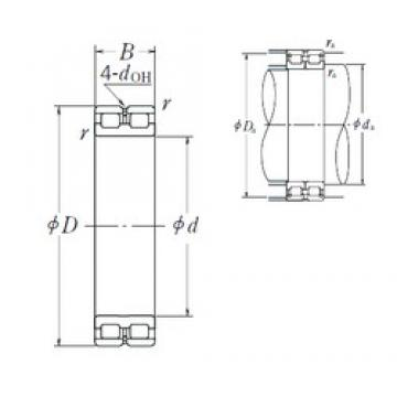 180 mm x 250 mm x 69 mm  NSK RSF-4936E4 cylindrical roller bearings