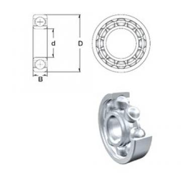 7 mm x 22 mm x 7 mm  ZEN S627 deep groove ball bearings