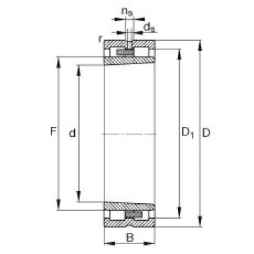 100 mm x 140 mm x 40 mm  FAG NNU4920-S-K-M-SP cylindrical roller bearings
