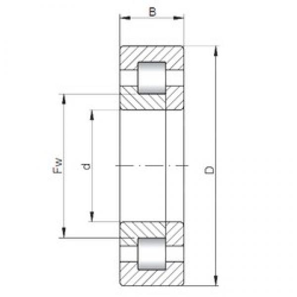 100 mm x 215 mm x 47 mm  ISO NUP320 cylindrical roller bearings #1 image