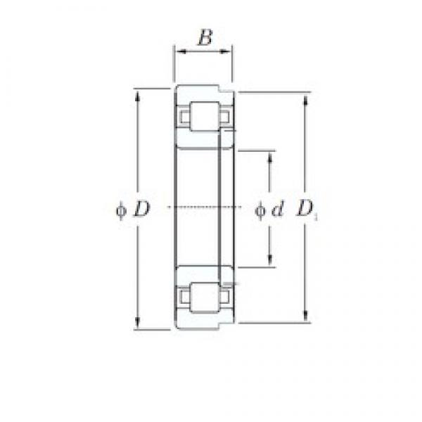 110 mm x 240 mm x 80 mm  KOYO NUP2322 cylindrical roller bearings #1 image