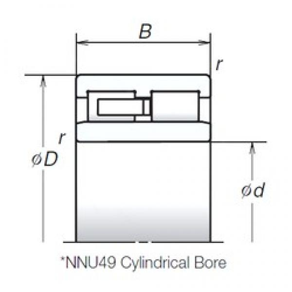 100 mm x 140 mm x 40 mm  NSK NNU4920MB cylindrical roller bearings #1 image