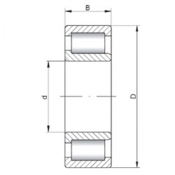 110 mm x 240 mm x 80 mm  ISO NJF2322 V cylindrical roller bearings #1 image