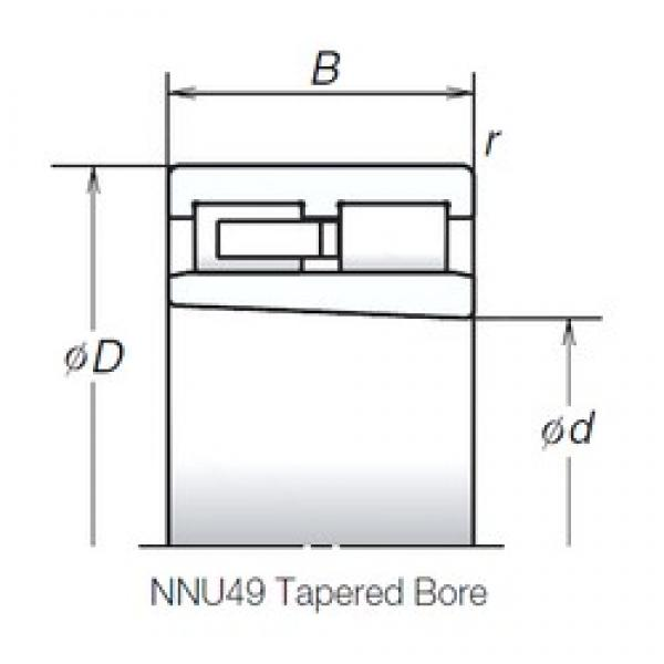 180 mm x 250 mm x 69 mm  NSK NNU4936MBKR cylindrical roller bearings #1 image